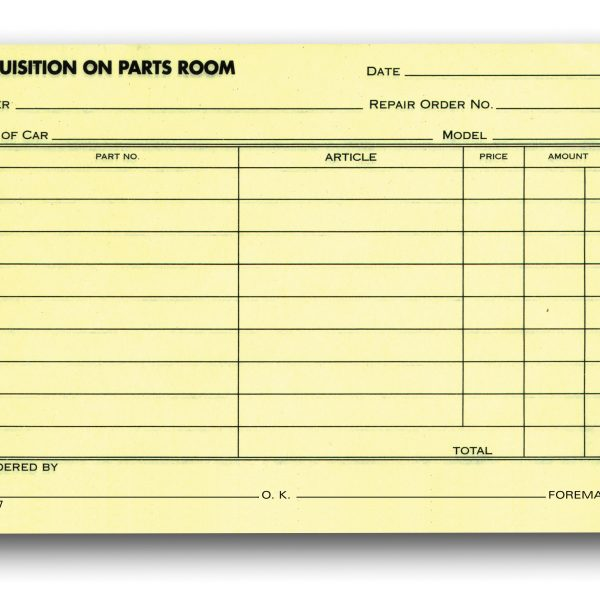 Special Parts Order Forms Aftermarket Specialties