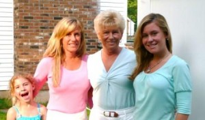 from left: granddaughter Emily, daughter Cathy, wife Gayle, granddaughter Deana