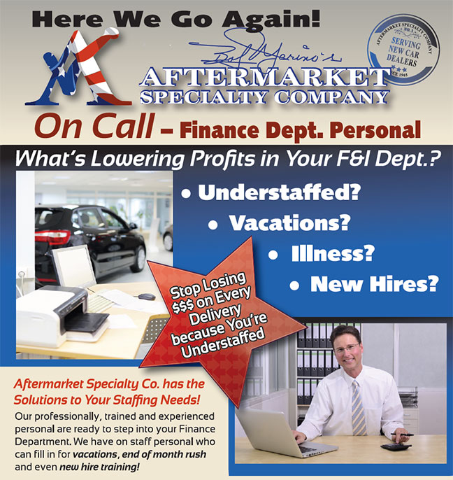 on call financial department specialists